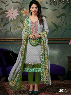 Picture of 2011 Designer Printed Pakistani Style Indian Suit