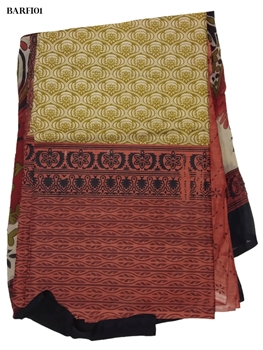 Picture of 01 Khaki and Brown Salwar Suit