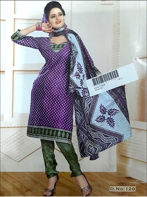 Picture of 120 Purple Printed Salwar Suit