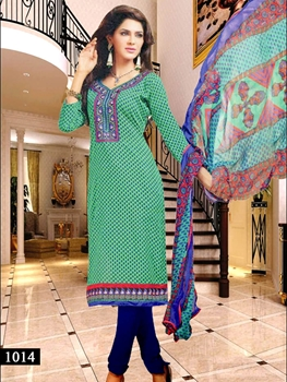 Picture of 1014 Sea Green Designer Straight Suit