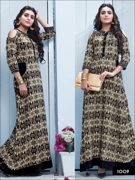 Picture of 1009 Black and Gray Designer Kurti
