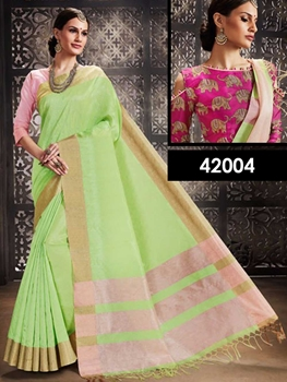 Picture of 42004 Pista Green Designer Function Wear Saree