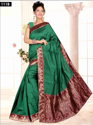 Picture of 111B Green Designer Saree