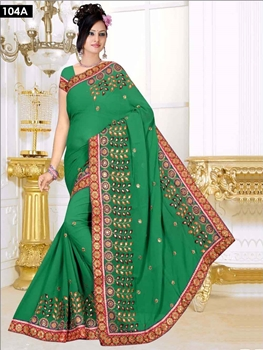 Picture of 104A Green Designer Saree