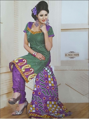 Picture of 105 Green Printed Salwar Suit