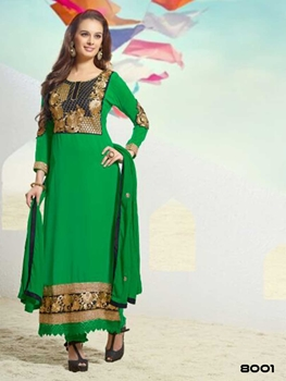 Picture of 8001 Green Designer Straight Suit
