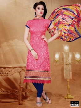 Picture of 26002 Deep Pink Designer Straight Suit