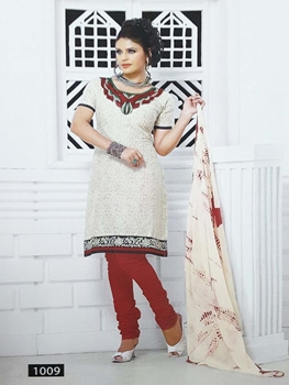 Picture of 1009 White Designer Printed Salwar Suit