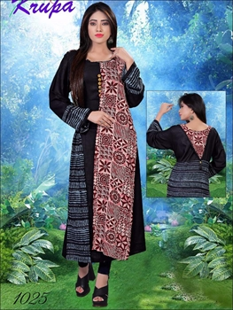 Picture of 1025 Black Designer Kurtis