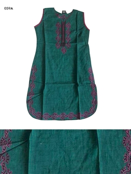Picture of 059A Green Designer Cotton Kurtis