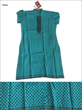 Picture of 035A Peacockgreen Designer Cotton Kurtis