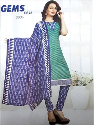 Picture of 3005Bottle Green And Blue Designer Straight Suit