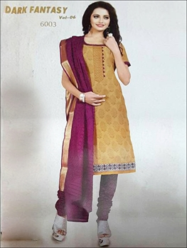 Picture of 6003Brown And Dark Violet Designer Straight Suit