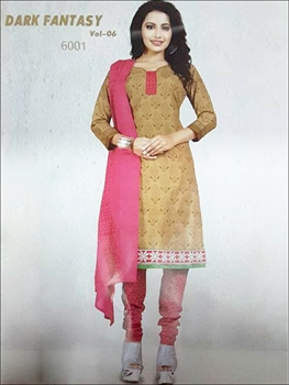 Picture of 6001Brown And Pink Designer Straight Suit