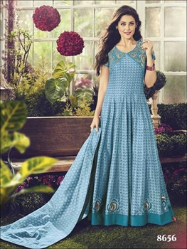 Picture of 8656 Sky Blue Designer Anarkali Suit