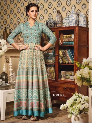 Picture of 10010Sky Blue and Ivory Color Designer Suit