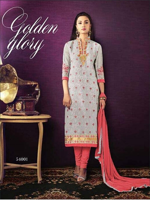 Picture of 54001Light Grey Designer Straight Suit