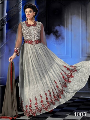 Picture of 4003 Gray Semistitched Designer Suit
