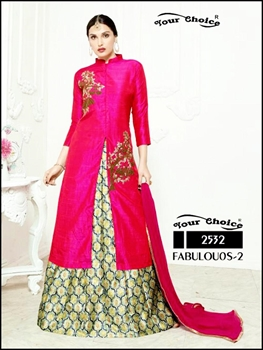 Picture of 2532Briaght Magenta Designer Wedding Wear Lehenga Choli