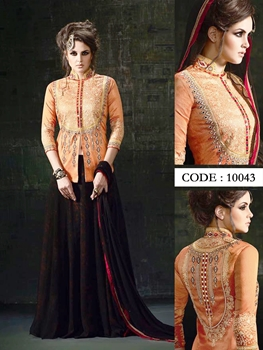 Picture of 10043Orange Exclusive Designer Anarkali Suit