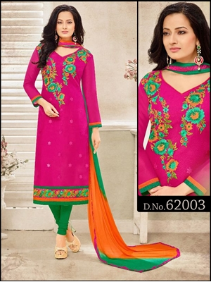Picture of 62003Magenta Exclusive Designer Straight Suit