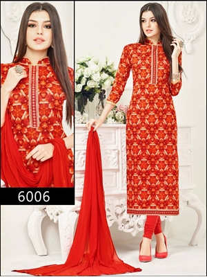 Picture of 6006Red Designer Straight Suit