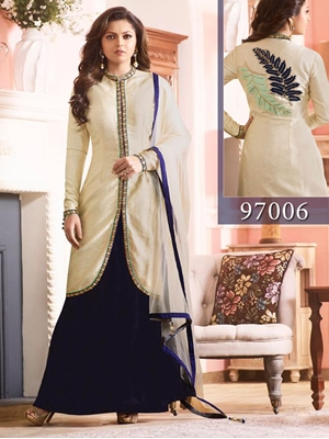 Picture of 97006Cream Latest Exclusive Designer Suits