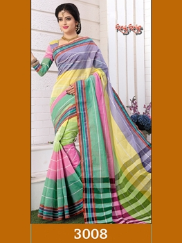 Picture of 3008LightYellow Exclusive Handloom Saree Collection