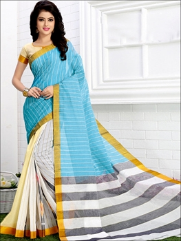 Picture of 3002SkyBlue Exclusive Handloom Saree Collection