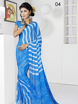 Picture of 04 Firozi Blue Exclusive Designer Laheriya Sarees