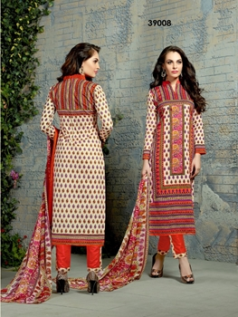 Picture of 39008Ivory Exclusive Designer Straight Suit