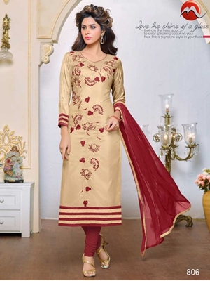 Picture of 806 Sandy Brown Exclusive Designer Fancy Straight Suit