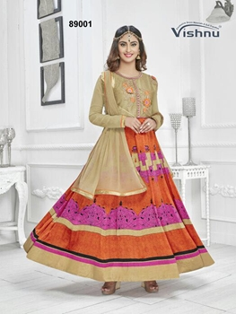 Picture of 89001Orange Exclusive Fancy Designer Anarkali Suit
