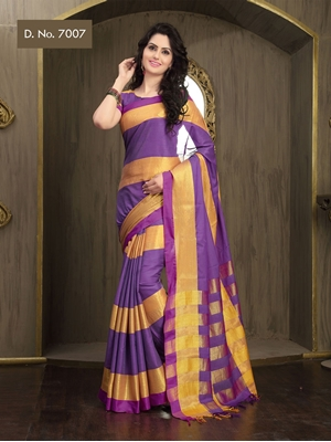Picture of 7007 Indigo Traditional Function Wear Fancy Saree