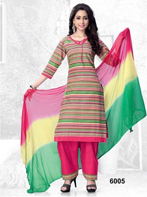 Picture of 6005Yellow Fancy Printed Designer Straight Suit