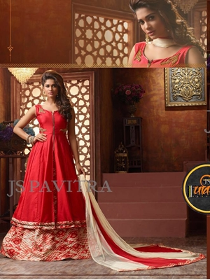 Picture of 1004Red and Cream Fancy Function Wear Designer Suit
