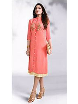 Picture of 511Orange Exclusive Party Wear Georgette Kurti