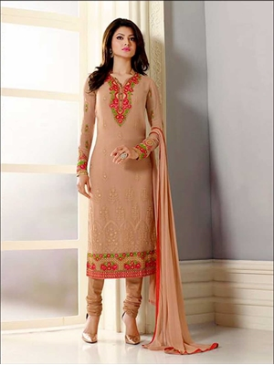 Picture of 12404Bisque Designer Fancy Exclusive Function Wear Straight Suit