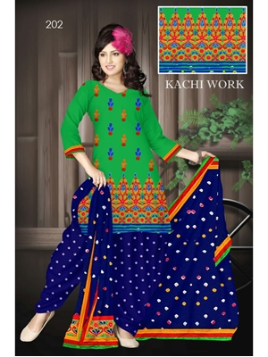 Picture of 202Green Designer Exclusive Fancy Daily Wear Cotton Salwar Suit