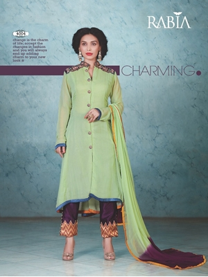 Picture of 4004 Parrot Green Designer Suit
