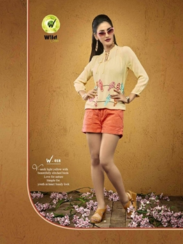 Picture of 018LemonChiffon Viscose Moss Crepe Party Wear Kurti