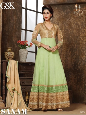 Picture of 900 Tea Green Designer Suit