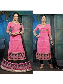 Picture of 922BrightPink and Magenta Party Wear Embroidered Designer Suit