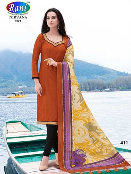 Picture of 411 Brown Bhagalpuri Straight Suit