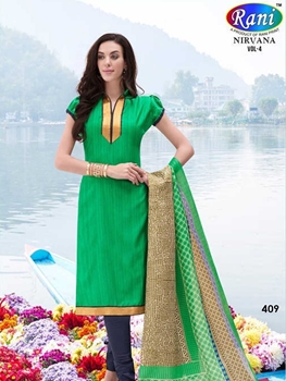 Picture of 409 Green Bhagalpuri Straight Suit