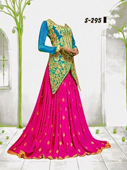 Picture of SkyBlue and MintPink Lehenga Choli