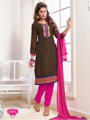 Picture of 8002 Coffee Brown Designer Straight Suit