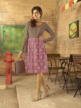 Picture of 156Brown and Pink Designer Kurti