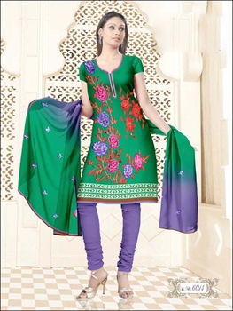 Picture of 6014 Green and Purple Salwar Suit