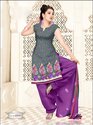 Picture of 6009 Grey and Violet Salwar Suit